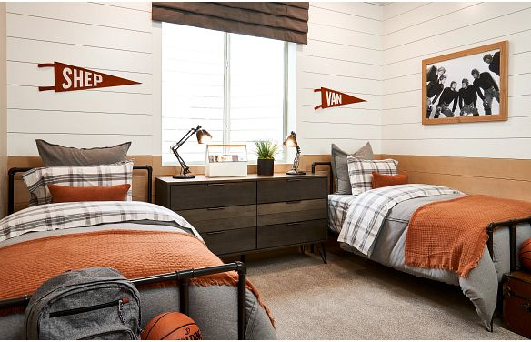 Solstice Horizon Amber Light Finished Basement Bedroom