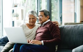 Adult Couple at Computer