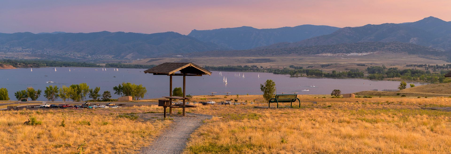 Colorado Chatfield Reservoir Mountains Trails Lake Getty Images