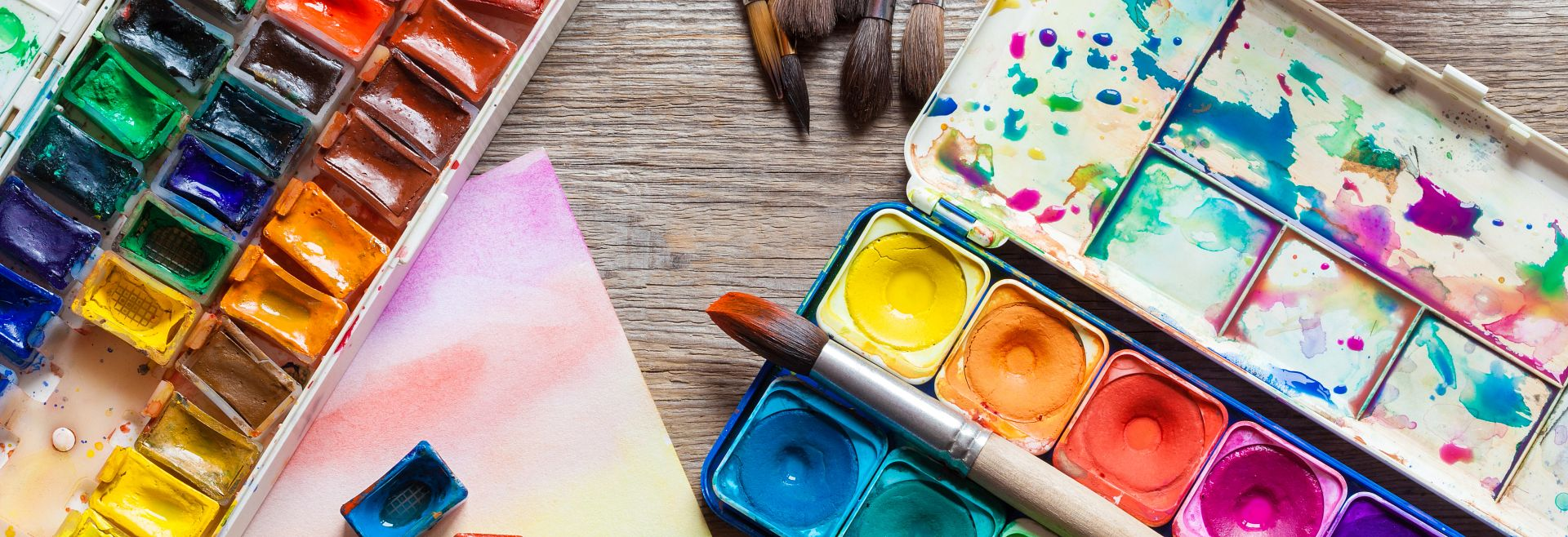 Watercolors Paints Brushes Art Getty Images