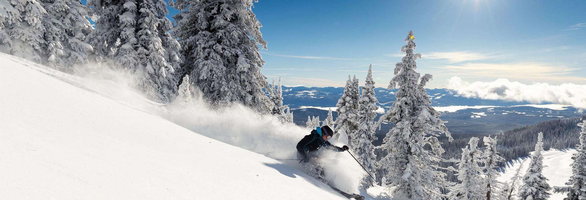 Skier on Sun Valley