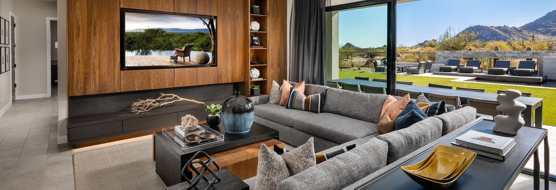 Living area in Prelude at Storyrock plan 7524