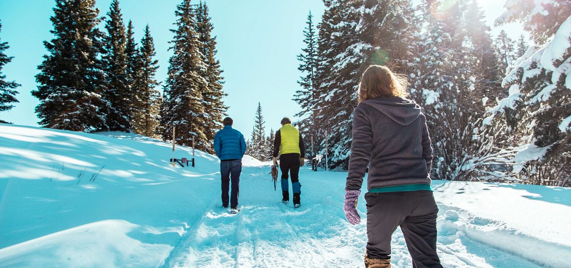 Snowshoeing Colorado Mountains Getty Images