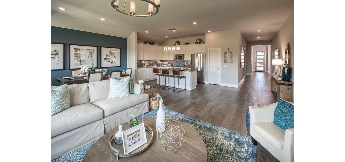 Interior of Shea home at Balmoral with sitting area and kitchen