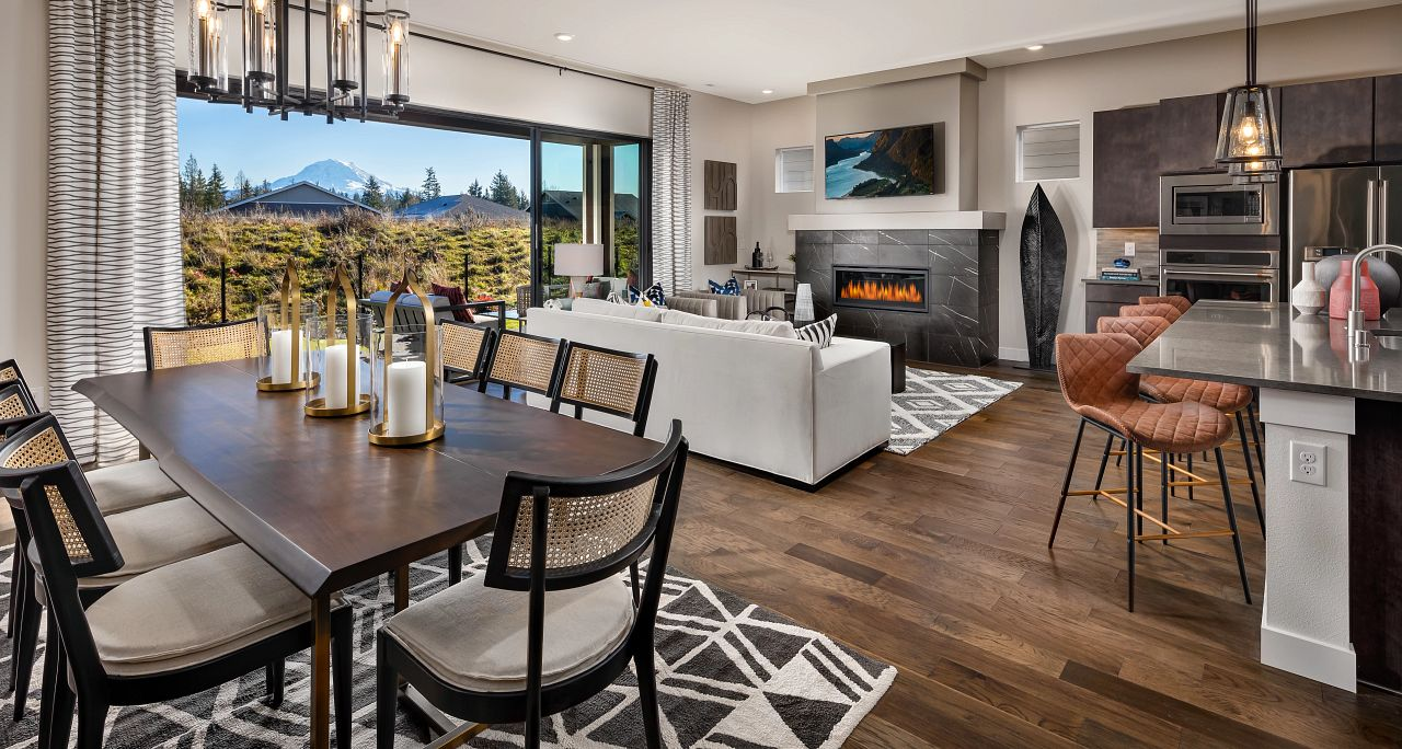 Dining, Great Room & Kitchen