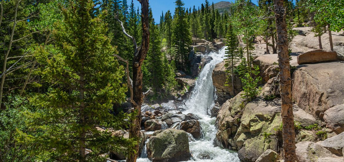 Alberta Falls Waterfall Colorado Mountains Getty Images
