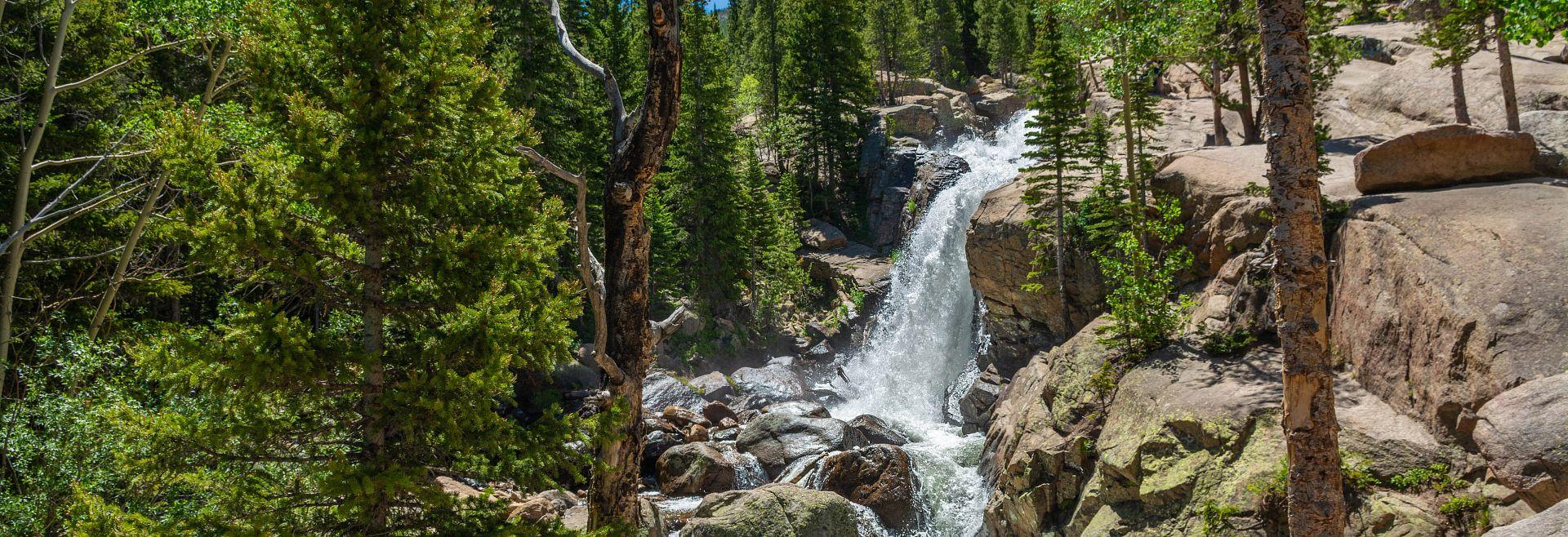 Alberta Falls in the Colorado mountains