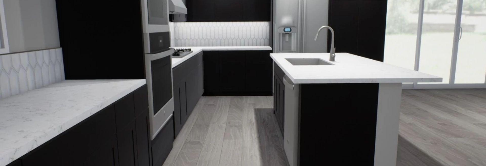Virtual Kitchen Rendering