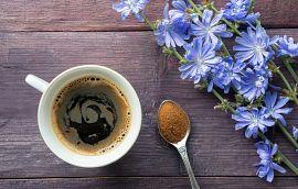 Chicory Coffee Mug Spoon  Flowers Getty Images