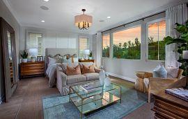 Primary bedroom at Cetara at Orchard Hills in Orange County