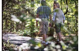 Couple Taking a Walk at Trilogy at Lake Norman