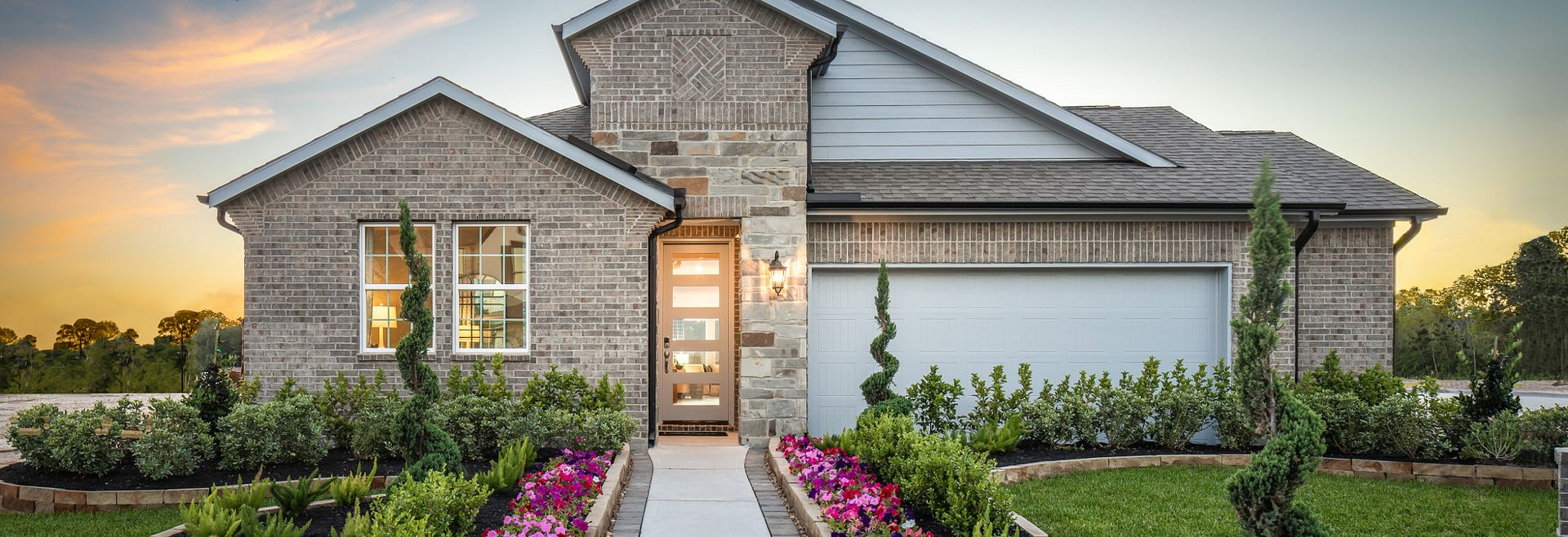 Exterior of the Plan 4039 home at Balmoral in Humble, TX