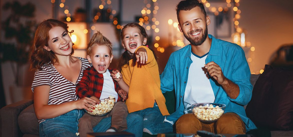 Family Holiday Movie Night Getty Images
