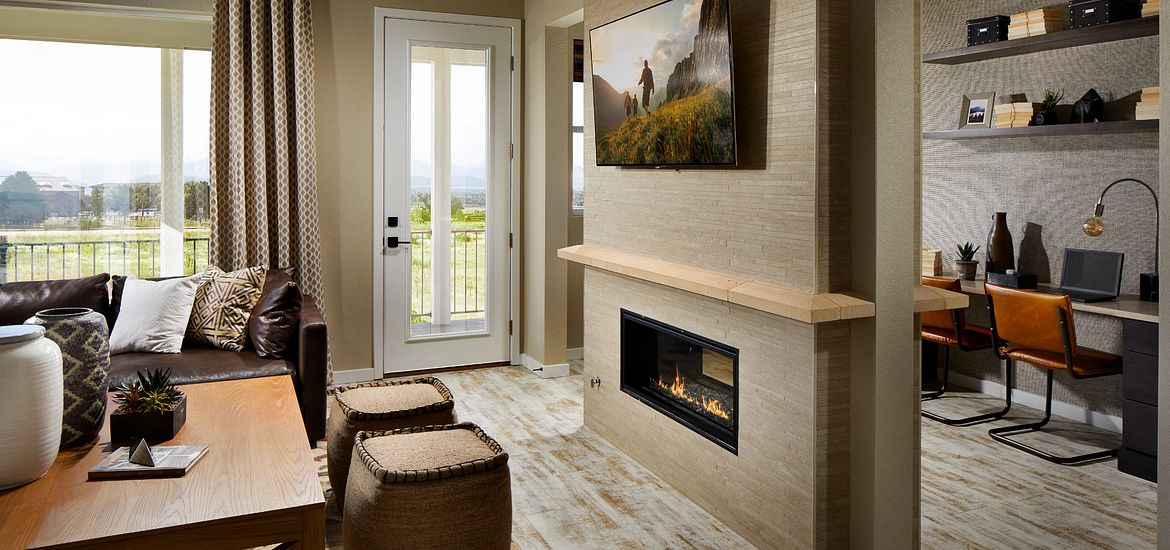 Crescendo at Central Park Plan 2205 Fireplace & Pocket Office