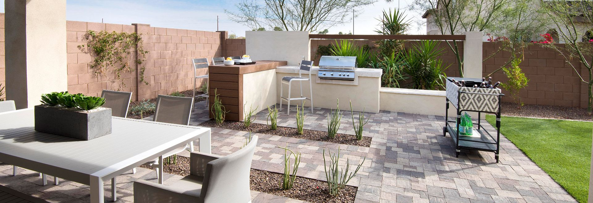Backyard at Ambition at  Recker Pointe