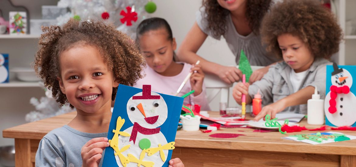Virtual Family Holiday Crafts Getty Images