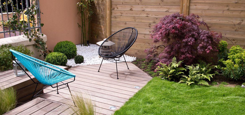 Modern Wood Terrace Garden Getty Images