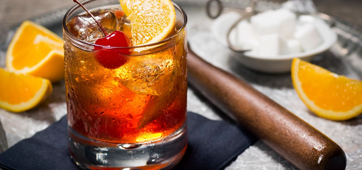 Old Fashion Whiskey Drink Oranges Cherry Getty Images