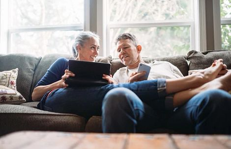 Homeowners Watching Virtually Together