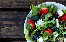 Strawberry Cheese Salad