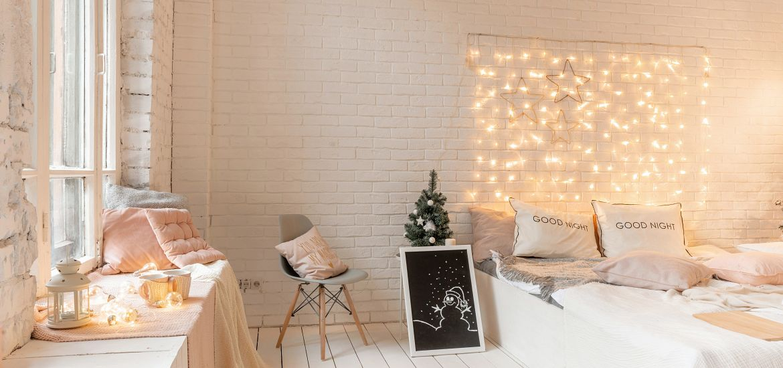 Bedroom String Lights Decor Getty Images