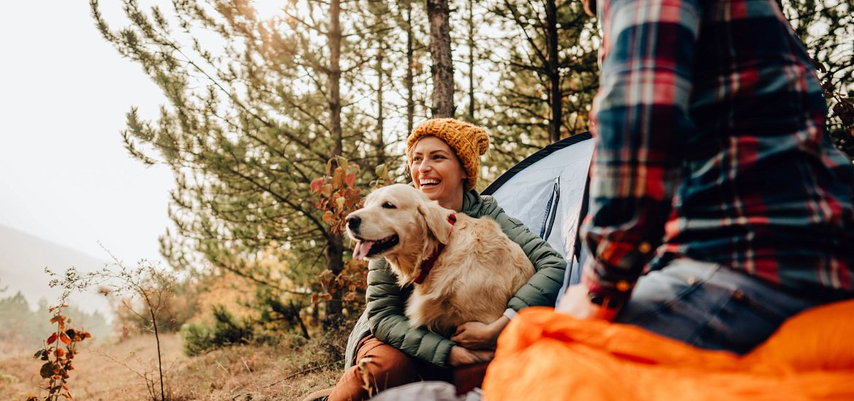 Couple Car Dog Camp