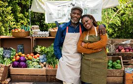 Couple at a Farmer's Market