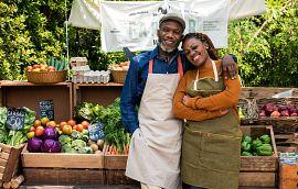 Couple at a Farmer's Market