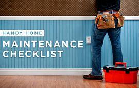 Handyman making repairs in the home