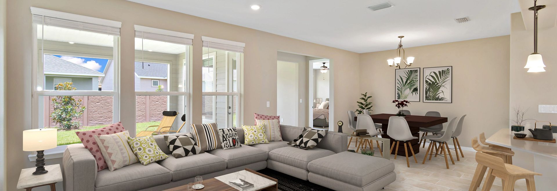 Trilogy at Ocala Preserve Virtually Staged Quick Move In Great Room