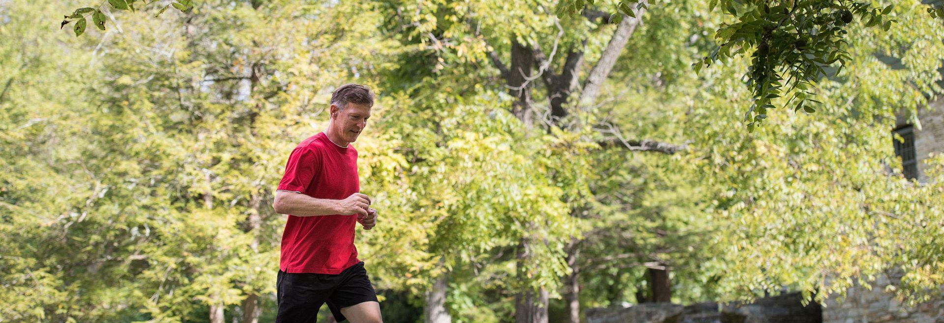 Man Running Trails