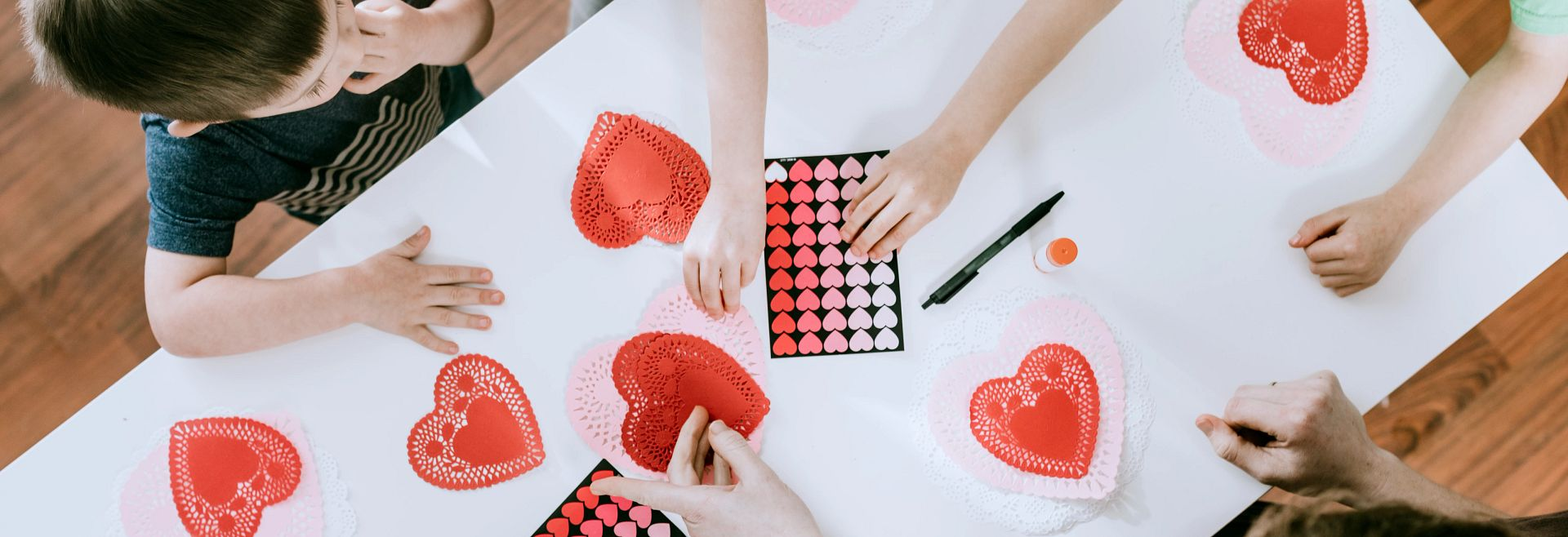 Valentine's Day Craft Painting Hearts Getty Images