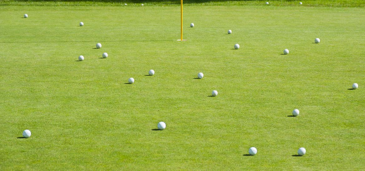 Golf Course Golf Balls Grass Getty Images