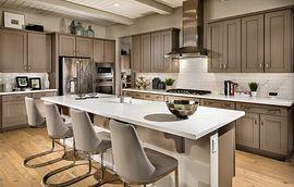 Kitchen of the Latigo model home at Trilogy in Wickenburg, AZ
