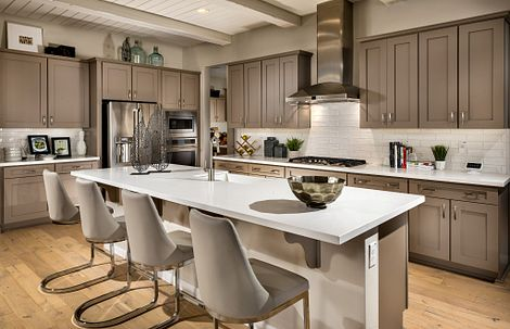Kitchen of the Latigo model home at Trilogy in Wickenburg, AZ