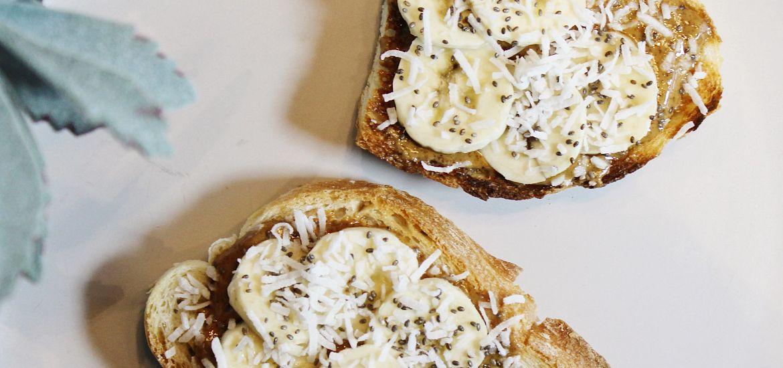Exchange Coffee House Almond Butter Banana Toast