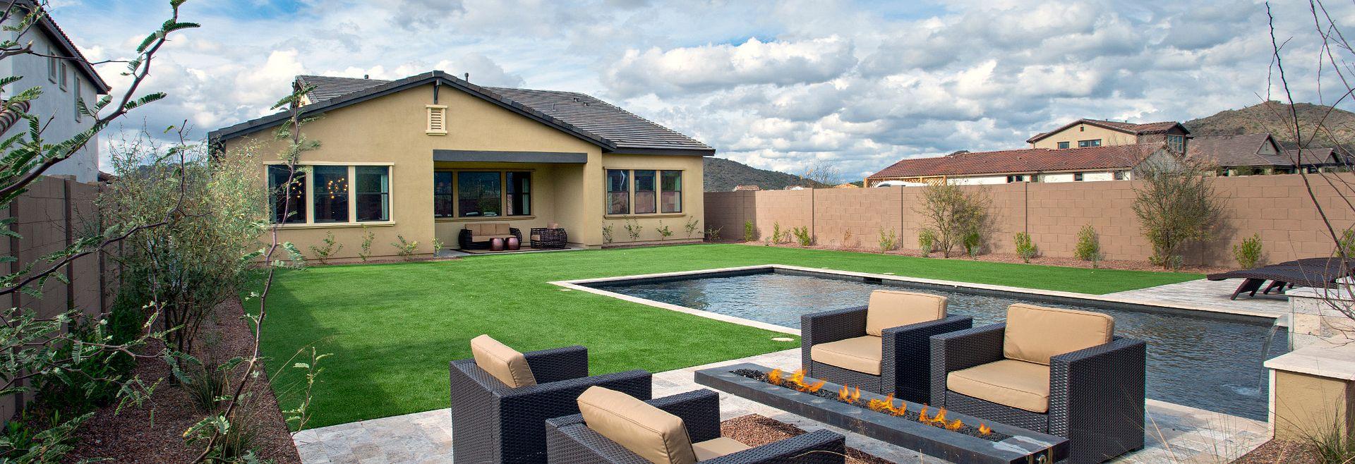 Backyard at Emblem at Aloravita in Peoria, AZ