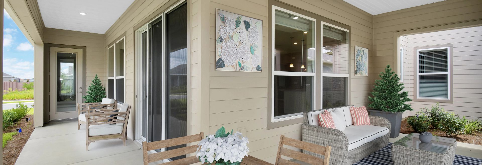 Trilogy at Ocala Preserve Quick move In Virtually Staged Covered Lanai
