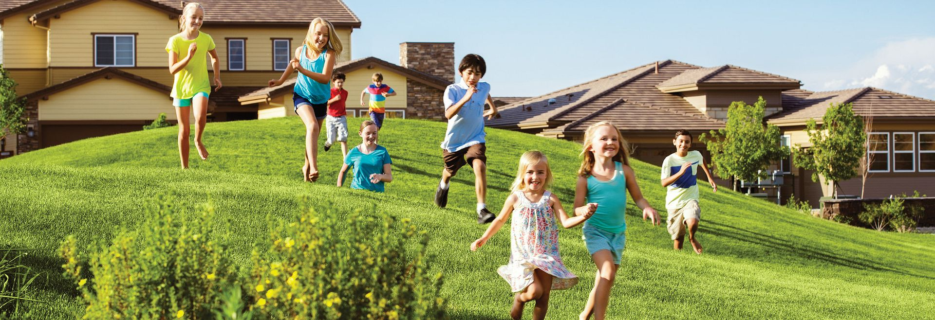 Stepping Stone Lifestyle Kids Running Down Hills