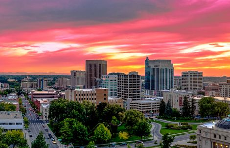 Skyline view of downtown Boise
