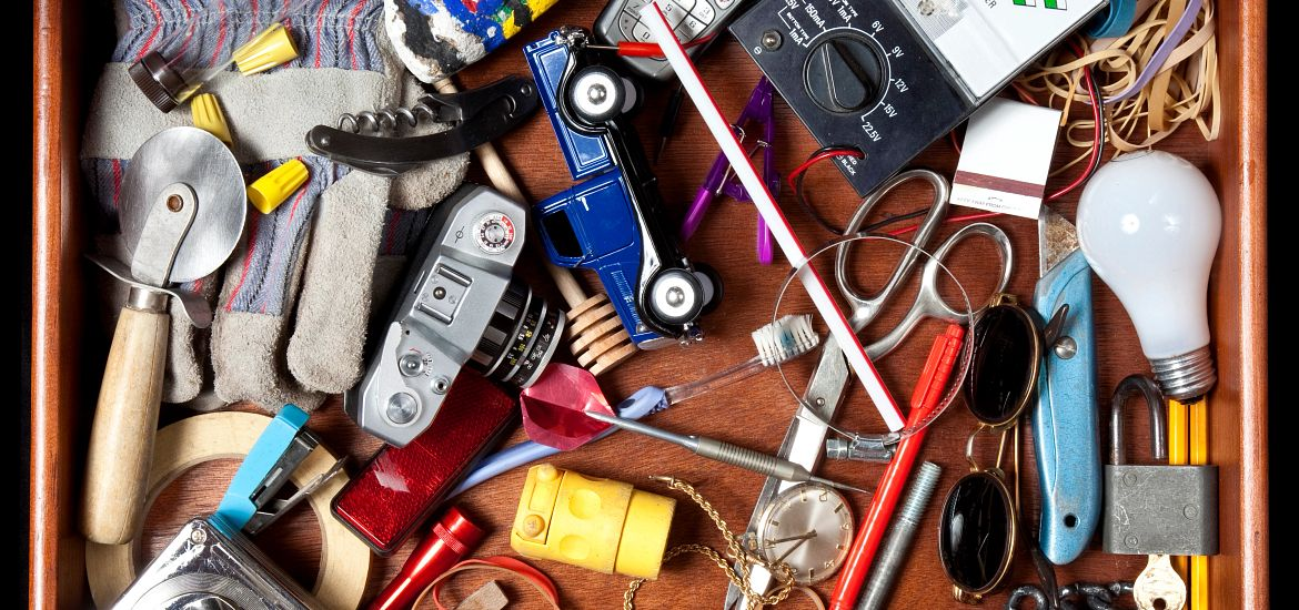 Junk Drawer Spring Clean Organize Getty Images