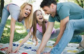 Backyard Twister Game Getty Images