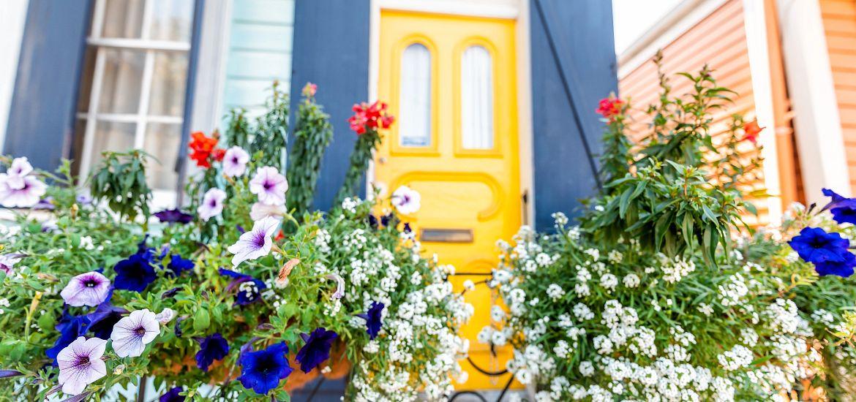 Flower Pots Front Porch Decor Getty Images