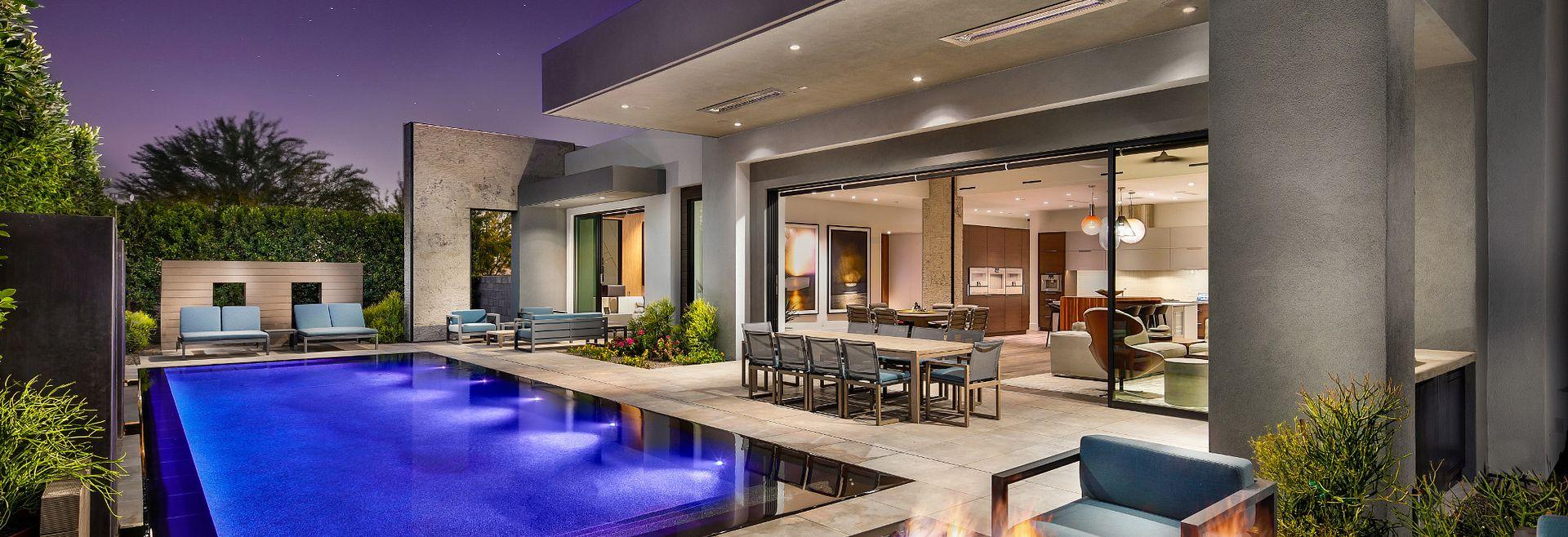 Azure Backyard Pool