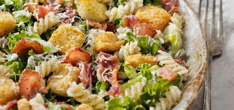 Kale Romaine Pasta Salad BLT Getty Images
