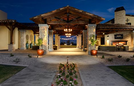 Exterior of the Algarve Club at Encanterra in Arizona