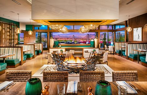 Interior of the restaurant at Trilogy Verde River in Arizona