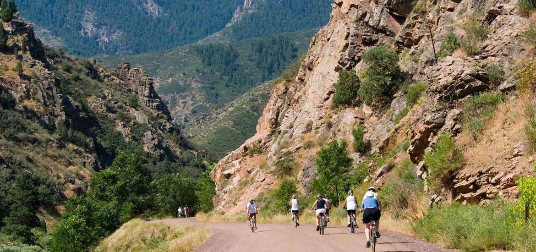 Mountain Bike Riders Waterton Canyon Colorado Getty Images