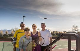Group at Tennis Court